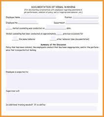 Employee Warning Form Free Employee Warning Form Threeroses Us
