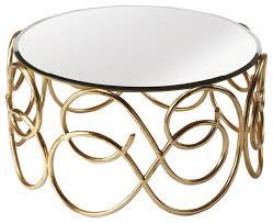 butler concerto antique gold cocktail table