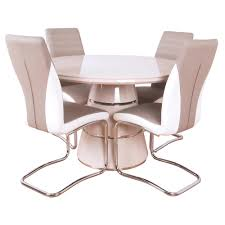 zuri round dining table and 4 chairs