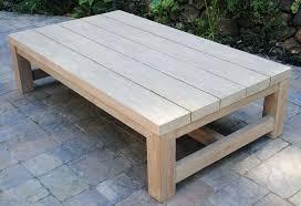 rustic outdoor coffee table plans wood teak