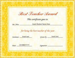 Best Teacher Award Template Pin By Alizbath Adam On Certificates Teacher Awards Teacher