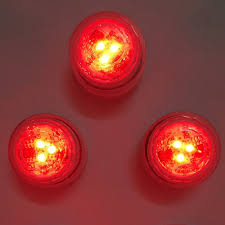Battery Operated Red Led Lights 12pcs Lot Cr2032 Battery Operated 3cm Mini Rgb Led