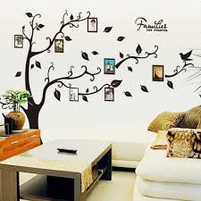 120x170cm photo tree frame wall sticker for family decoration mixed color 60 x 90 cm