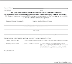 Request For Medical Records Form Template Medical Records Release Form Template Fresh Fees For Dental