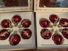 Alter Christbaumschmuck Weihnachtskugeln Glas Karton Ca 19 X