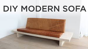 diy modern sofa how to make a sofa out of plywood you