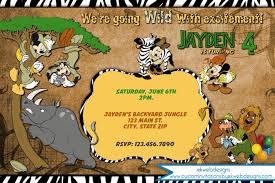 Safari Party Invitations Disney Jungle Safari Birthday Invitation Mickey And Friends Safari