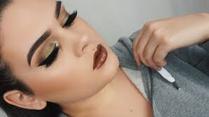 olive green arabic eye makeup tutorial
