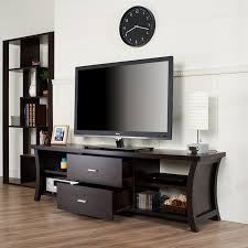 Modern 2-drawer TV Stand with Open Shelving - Free Shipping Today -  Overstock.com - 15689423