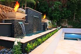 retaining wall design ideas retaining wall designed with water and fire features brick retaining wall design