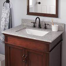 Home Decorators Collection 31 In W X 19 In D Granite Vanity Top In Napoli 32196 The Home Depot