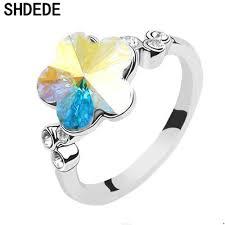Женское <b>кольцо</b> с античным кристаллом <b>Swarovski</b> SHDEDE ...