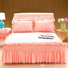 purple bed skirt queen beige bed skirt princess lace purple pink beige bed skirt king queen full size home decorative ruffles bedspread dust ruffles for