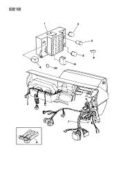 1988 dodge dakota instrument panel wiring diagram 00000z87