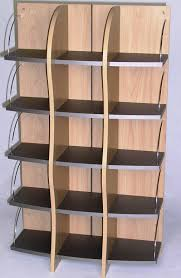 furniture grey and bronw wooden dvd storage shelves with some racks entrancing look of