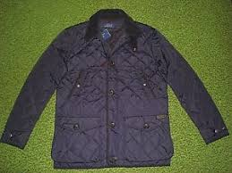 Men's $395 (M) POLO-RALPH LAUREN Navy Quilted Jacket/ Coat | eBay & Image is loading Men-039-s-395-M-POLO-RALPH-LAUREN- Adamdwight.com