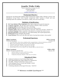 medical office manager resume cover letter medical office manager resume cover letter medical billing and coding resume sample