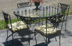 modern patio and furniture medium size glass patio table set wrought iron with top bd about