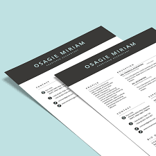 2 Page Cv Fleek Templates The Best Microsoft Office Templates Online