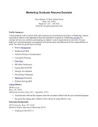 Marketing Graduate Resume Objective | Dadaji.us
