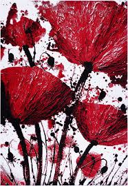 home modern area rugs red black poppy flower area rug