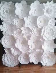 Flower Wall Diy Paper Flower Wall The Knot