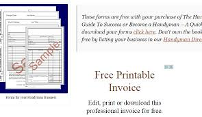 Free Printable Handyman Invoice Download Them Or Print