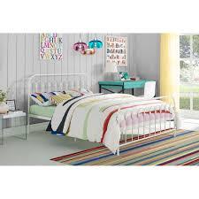 Novogratz Bright Pop Full Metal Bed, Multiple Colors - White