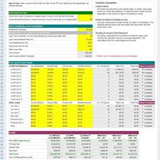 Credit Card Debt Payoff Spreadsheet Calculator Excel Pay Off Sample