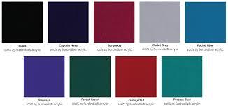 Boat Cover Colour Chart Sunbrella Marine Fabric Cover