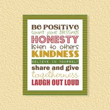 Be Positive Subway Art 40x40 Motivational Inspirational Kindness Magnificent Honesty Quotes Images Download