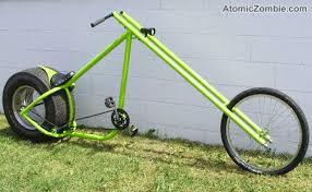a spoked car rim gives this chopper attitude bike ideas