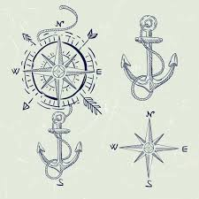 compass design compass design elements handdrawn classical sketch various symbols