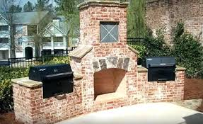outdoor brick fireplace is great choice for its durability masonry stone plans free outdoor gel fireplace