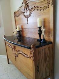 furniture repurpose. made from bed headboard and footboard clever furniture repurpose