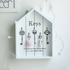 Decorative Key Boxes Home Decor Wooden Key Boxes Wall Hanging Decoration Wall Shelf 64