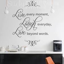this live laugh love wall sticker says or life live every moment laugh everyday