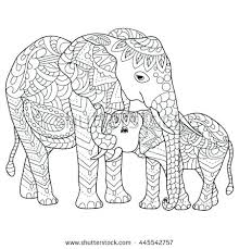 Coloring Pages Elephant Cute Baby Elephant Coloring Page Ribnicainfo