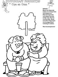 Kleurplaat Verjaardag Pake Opa En Oma Poppenkastfiguurtjes