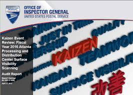 Kaizen Event Review Fy 2016 Atlanta Processing Distribution