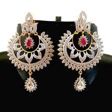 bollywood style chandelier earring american diamond earrings cz