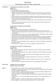 Download Warehouse Logistics Resume Sample as Image file