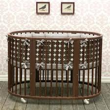 dwell baby furniture. Oval Crib Set In Chocolate Dots Dwell Baby Modern Furniture