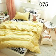 twin full queen king yellow zebra cotton 4pcs bedding sets bed duvet cover quilt cover flat