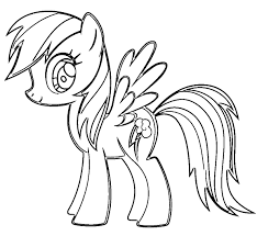 My Little Pony Coloring Pages Rainbow Dash Packed With Color