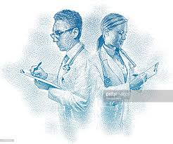 Doctors Filling Out Medical Charts Vector Art   Getty Images