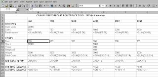 Unit 4 Cash Flow Forecasts