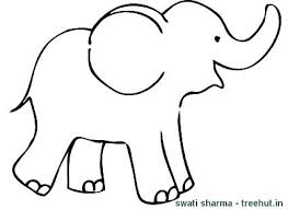 Baby Elephant Coloring Page Pages Cute Sheets Artigianelliinfo