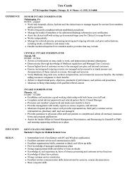 Intake Coordinator Resume Samples Velvet Jobs