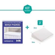 As medidas padronizadas variam de acordo com o modelo de colchão. Kit Protetor Capa De Colchao De Berco Padrao Impermeavel Travesseiro Anti Refluxo Bebe Tamanho P No Shoptime